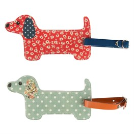 Floral Friends Dachshund Luggage Tag assorted