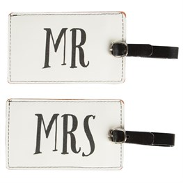 Mr & Mrs Luggage Tag Assorted