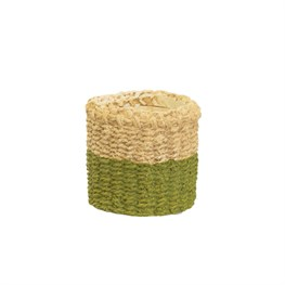Mini Green Dip Cement Basket Planter