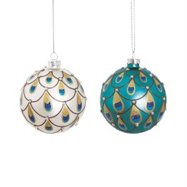 Peacock Bauble Assorted