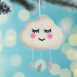 Sweet Dreams Raindrops Cloud Hanging Decoration