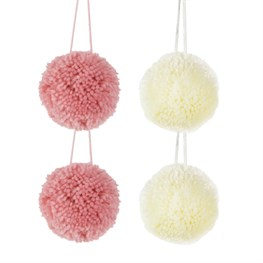 Set of 4 Wonderland Pastel Pom Poms