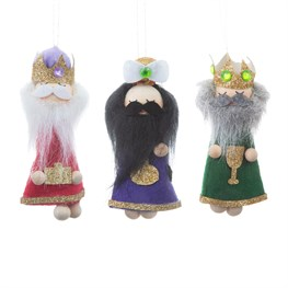 Set of 3 Wise Men Hanging Decorations