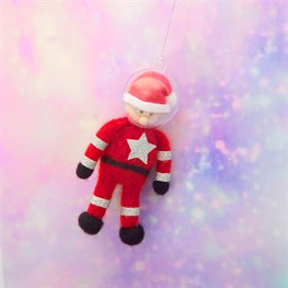 Outer Space Astronaut Santa Hanging Felt Decoration
