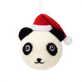 Christmas Kawaii Panda Hanging Felt Bauble
