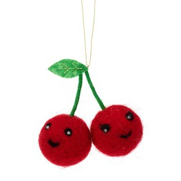 Fun Food Cherry Hanging Felt Decoration