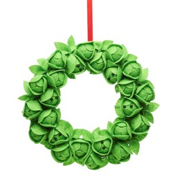 Brussels Sprouts Felt Wreath