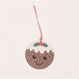 Set of 6 Christmas Pudding Gift Tags