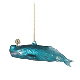Glitzy Whale Shaped Bauble