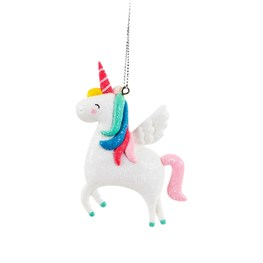 Clay Shimmer Rainbow Unicorn Hanging Decoration