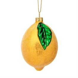 Shimmering Lemon Shaped Bauble