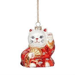 Lucky Cat Shaped Bauble