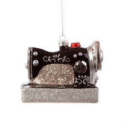 Retro Sewing Machine Shaped Bauble