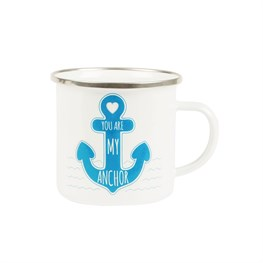 You Are My Anchor Enamel Mug