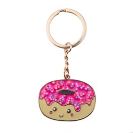 Patches & Pins Doughnut Enamel Keyring