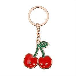 Patches & Pins Cherry Stem Enamel Keyring