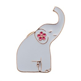Mandala Elephant Enamel Pin Fashion Accessory