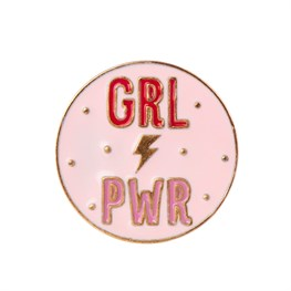 Girl Power Pin Fashion Accessory