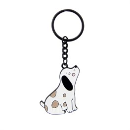 Barney The Dog Enamel Keyring