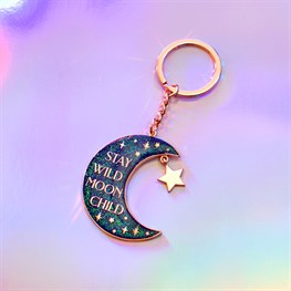 Moon Child Celestial Keyring