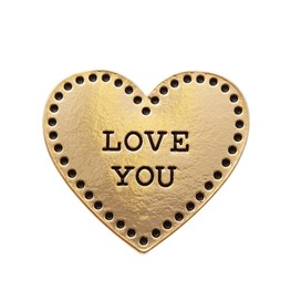 Gold Love Heart Pin Fashion Accessory