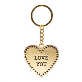 Gold Love Heart Keyring