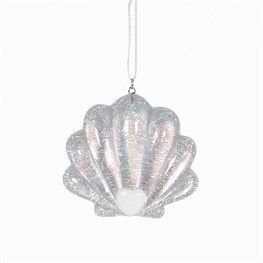 Iridescent Mermaid  Shell Hanging Decoration