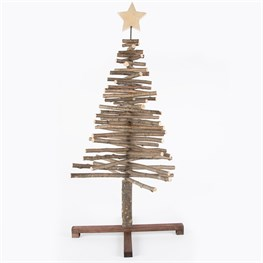 Little Log Standing Christmas Tree with Star Large