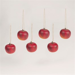 Decorative Apple Hanging Decorations - Set of 6