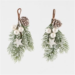 Snowdrop Mistletoe Hanging Decorations - Set of 2