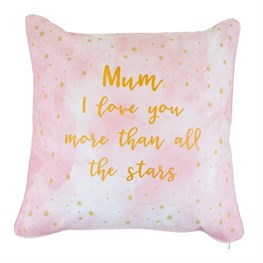 Scattered Stars Mum Love You More Cushion with Inner