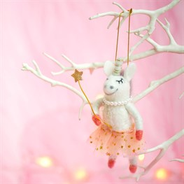 Fairy Unicorn Hanging Felt Decoration