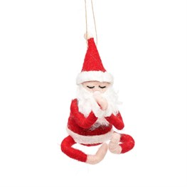 Yoga Santa Felt Decoration
