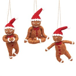 Gingerbread Men Felt Decoration Assorted