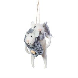 Mum & Baby Mouse Felt Decoration