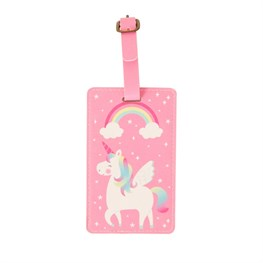 Rainbow Unicorn Luggage Tag