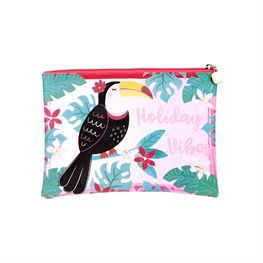 Toucan Holiday Vibes Pouch