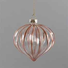 Copper Scalloped Pane Bauble