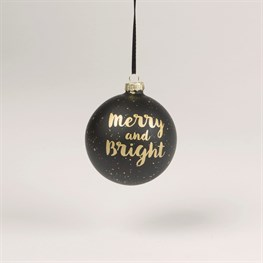 Merry & Bright Monochrome Bauble