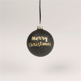 Merry Christmas Monochrome Bauble