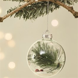 Festive Flora Pine Sprig Berry Bauble