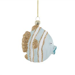 Blue and Gold Fish Shaped Bauble