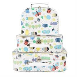 Set of 3 Busy Bugs Suitcases