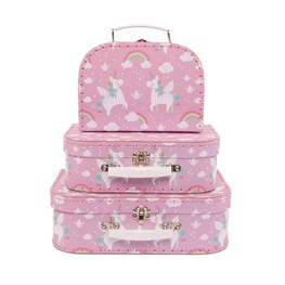 Set of 3 Rainbow Unicorn Suitcases