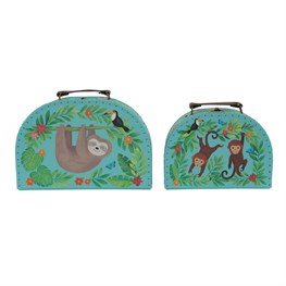 Set of 2 Sloth and Friends Suitcases