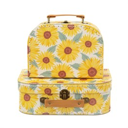 Sunflower Suitcases - Set of 2