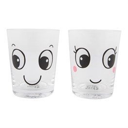 Fun Faces Glass Tumbler Assorted