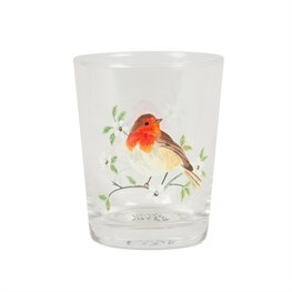 Garden Birds Glass Tumbler – Robin