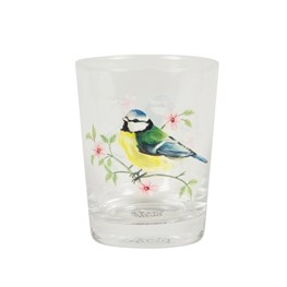 Garden Birds Glass Tumbler – Blue Tit