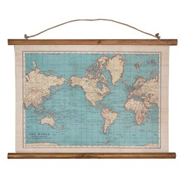 Vintage Map Wall Hanging Canvas Print
